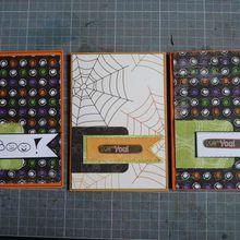 3 cartes d'halloween