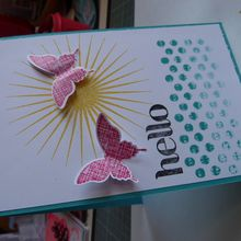 Carte Hello -Stampin'up
