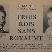 CHARLES X, LOUIS XIX, HENRI V : TROIS ROIS SANS ROYAUME
