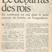 ANDRÉ CASTELOT : LE DÉBARRAS DES ROIS