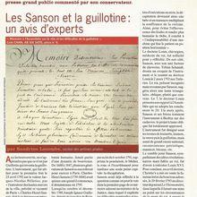 SANDRINE LACOMBE : LES SANSON ET LA GUILLOTINE