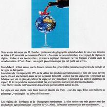 """CR de conférence sur """"Vin , vigne et vignerons français dans la Mondialisation"""""""