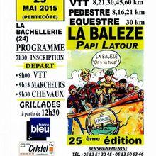 La Balèze 2015 - LUNDI 25 MAI 2015