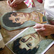 Technique des peintres du Fayoum