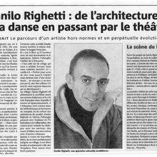 Danilo Righetti : de l'architecture à la danse en passant par le théâtre