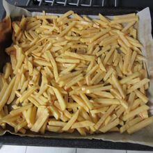 Faire des frites au four avec le fresh express cube and stick