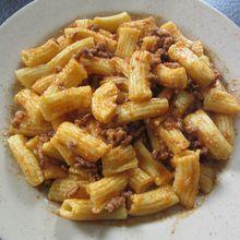 Penne fraîches maison à la bolognaise (philips pasta maker)