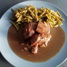 Recette de sauté de porc au vin rouge au cookéo (porc bourguignon cookéo)