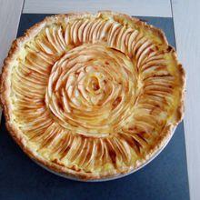 Tarte aux pommes à la crème pâtissière