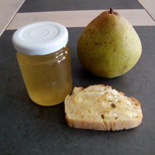 Gelée de poires (avec des épluchures de poires)