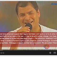Rafael Correa fustige l'idéologie du genre