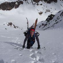 Toz et Olivier à la montagne pour descendre A11.1 au combeynot...