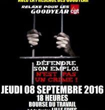 Goodyear solidarité : Lille le 8 septembre!