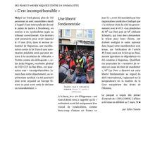 Stratégie répressive : criminaliser les blocages
