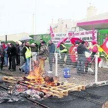 Grève chez Areva Malvesi