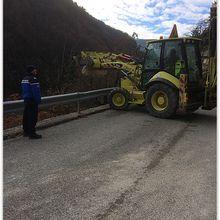 Eboulement D610 entre Entrevaux et Val de Chalvagne