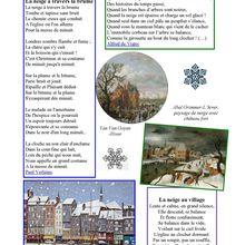La page poésie d'Odile   : les plaisirs de la neige