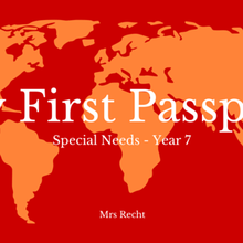First steps : My School Passport