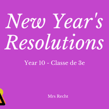 New Year's Resolutions (2016 avec worksheets)