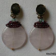 Création de boucles d'oreilles clips en quartz rose