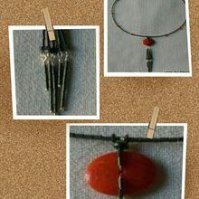 Création collier en corail ancien !
