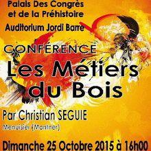 L'affiche de la conférence pour le salon de l'artisanat d'art de Tautavel