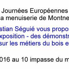 Une bannière en programme pour les JEMA 2016 à menuiserie de Montner