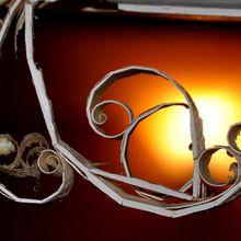 Cadre et copeau dans la lumière