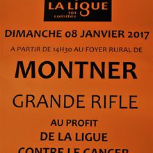 Rifle contre le cancer à Montner le 8 janvier 2017