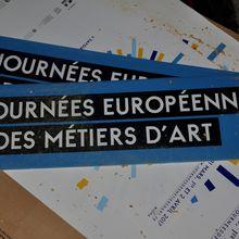 Les affiches des Journées Européennes des Métiers d'Art viennent d'arriver