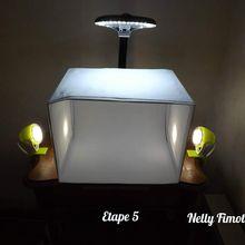 Nelly Fimote crée un mini studio photo