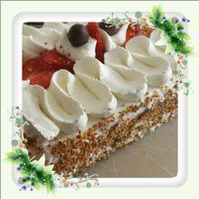 Gâteau chantilly fraises