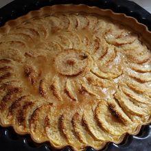 Tarte aux pommes alsacienne au lait concentré