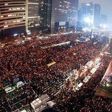 Deux millions dansla rue contre la présidente en Corée du Sud