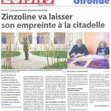 Deux articles dans l'hebdomadaire Haute-Gironde