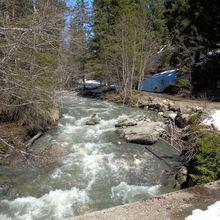 Sous la pointe de Comborsier (2534m), le lac du Plan du Jeu (2010)