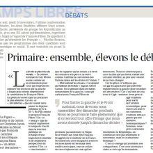 """Je suis signataire de la tribune du Figaro : """"Primaire : Ensemble, élevons le débat"""""""