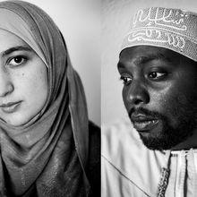 Photos noir & blanc, regards dans le vide, sourires tristes...Comment les musulmans-militants travaillent leur image