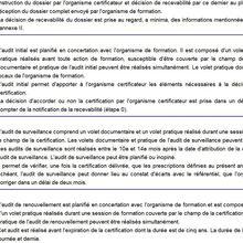 PROCÉDURE DE CERTIFICATION pour les centres de formations en sécurité privée
