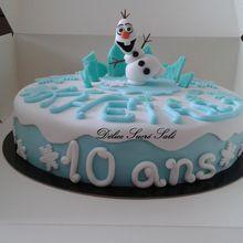 Gâteau Tout Choco Thème Reine des Neiges