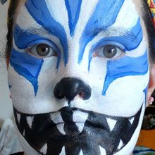 Le chat au grand sourire - Tuto make up halloween