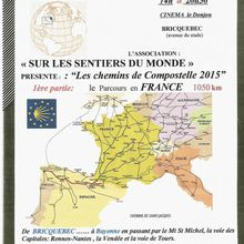 Projection : Compostelle 2015 _ Bricquebec-Bayonne