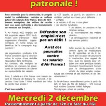 Soutien aux inculpés d'Air France 2 décembre