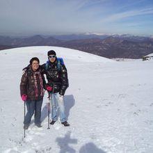 Randonnée à la montagne de la Croix (1221m) avec Belle et la neige !