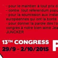 Congrès de la CES (Confédération Européenne des Syndicats)