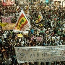 Brésil : manifestations populaires contre le dynamitage de l'État social