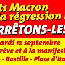 Contre Macron, je manifeste les 12 et 23 septembre 2017
