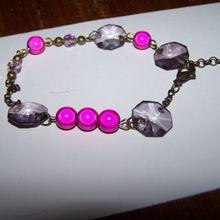 bracelet rose et bronze
