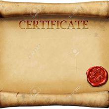 Modèle de certificat d'autrefois (pour résister à la modernité)