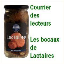 CDLN - Courrier des lecteurs de NATURES : bocaux de Lactaires